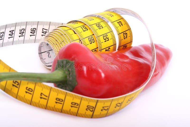 Tempo da dieta com pimenta imagens de stock