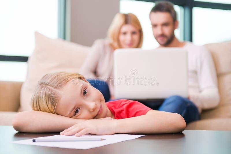 Tempo da família do lazer imagens de stock