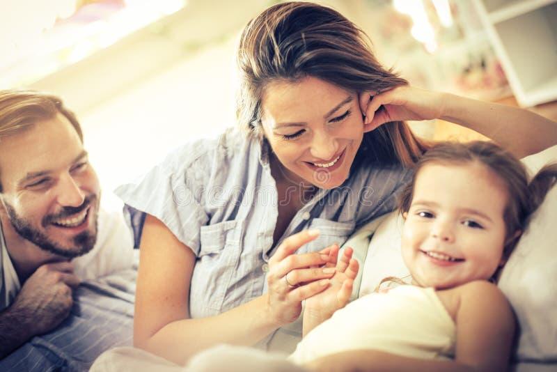 Tempo da família da manhã imagem de stock royalty free