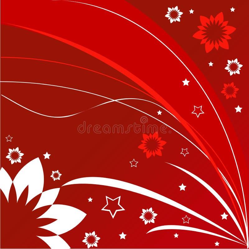 Tempo da flor ilustração do vetor