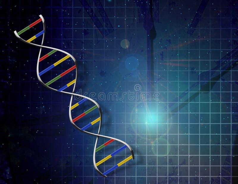 Tempo da genética ilustração royalty free