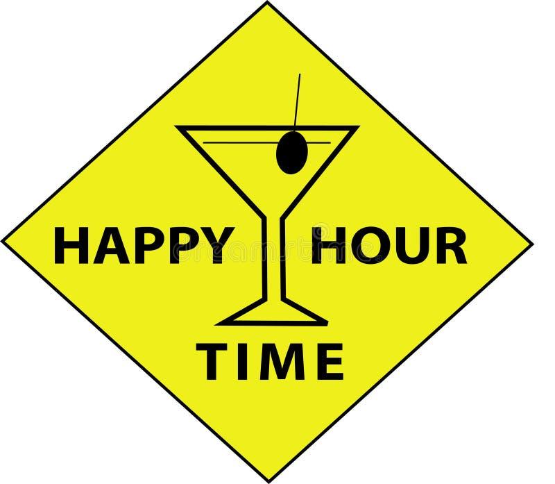 Tempo da hora feliz (sinal) ilustração royalty free