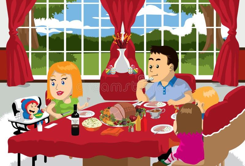 Tempo da refeição de Easter ilustração royalty free
