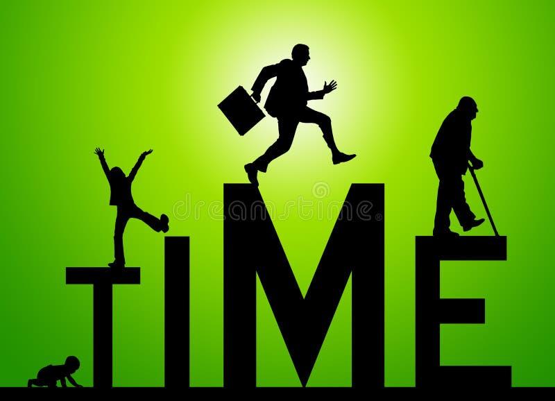 Tempo da vida ilustração stock