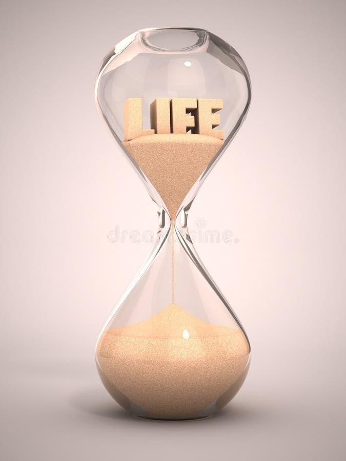 Tempo da vida que passa o conceito ilustração stock