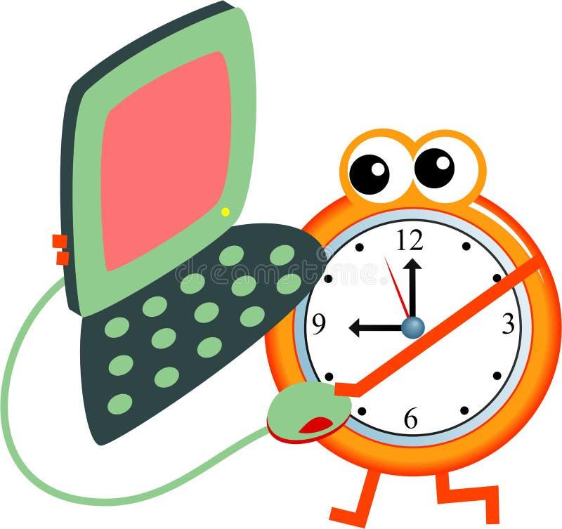 Tempo de computador ilustração stock