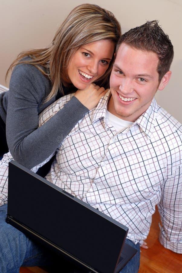 Tempo de computador junto fotografia de stock