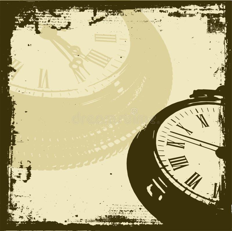 Tempo de Grunge ilustração do vetor