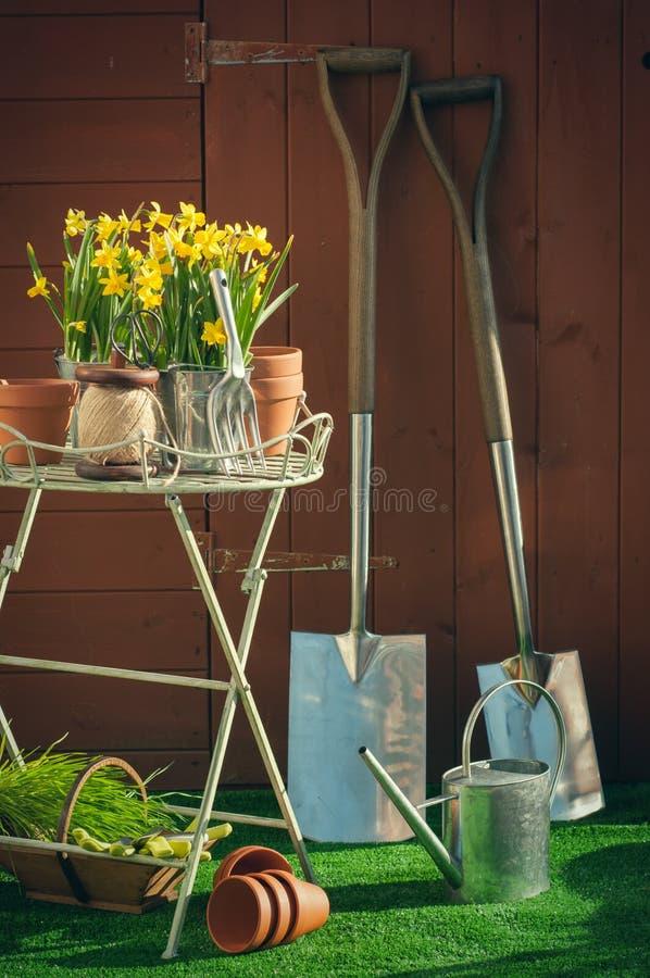 Tempo de jardinagem fotografia de stock