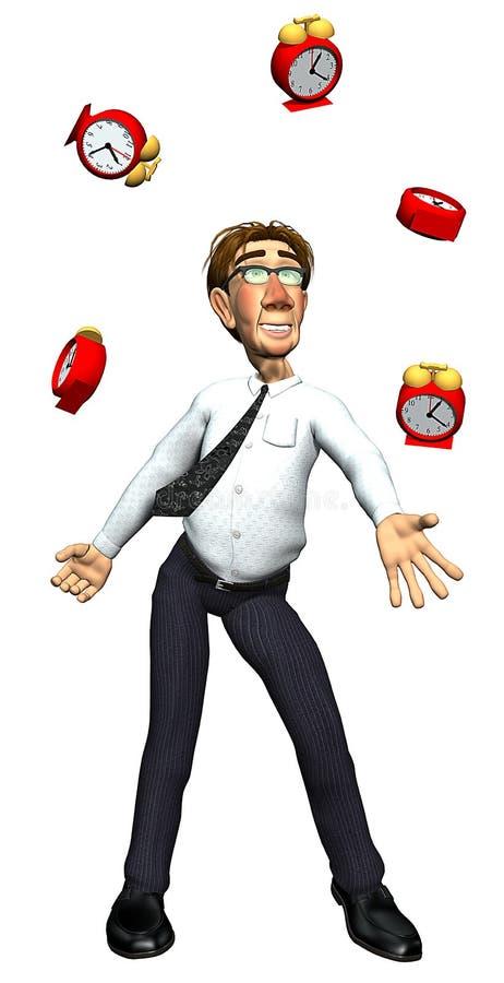 tempo de mnanipulação do homem de negócios 3d ilustração royalty free