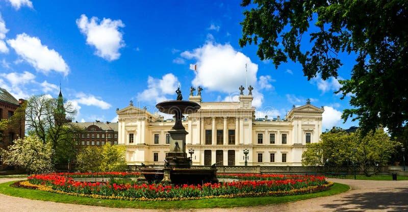Tempo de mola da universidade de Lund fotos de stock