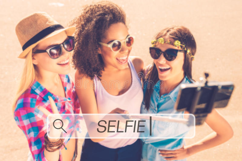 Tempo de Selfie! imagem de stock royalty free