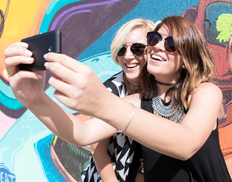 Tempo de Selfie fotografia de stock
