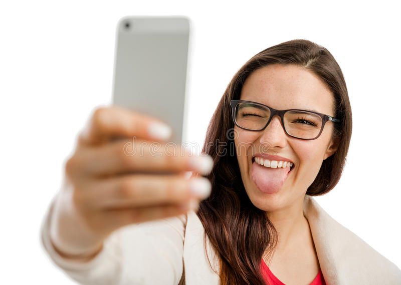 Tempo de Selfie foto de stock royalty free