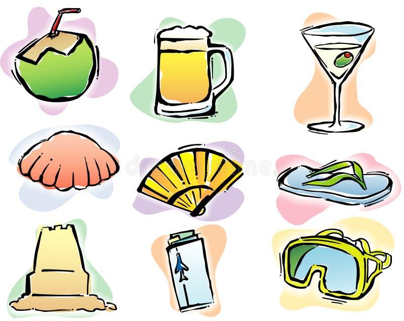 Tempo de verão 2 ilustração royalty free