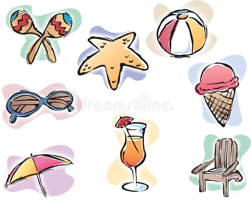 Tempo de verão ilustração stock