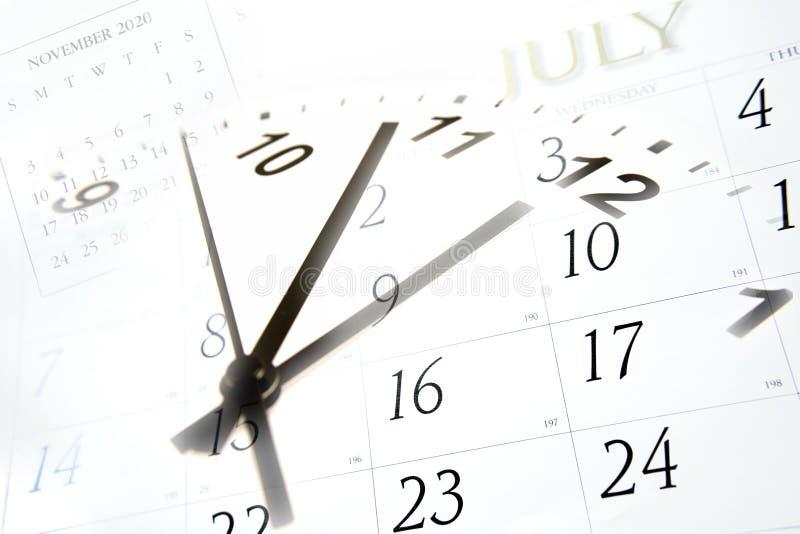tempo dei calendari fotografia stock libera da diritti
