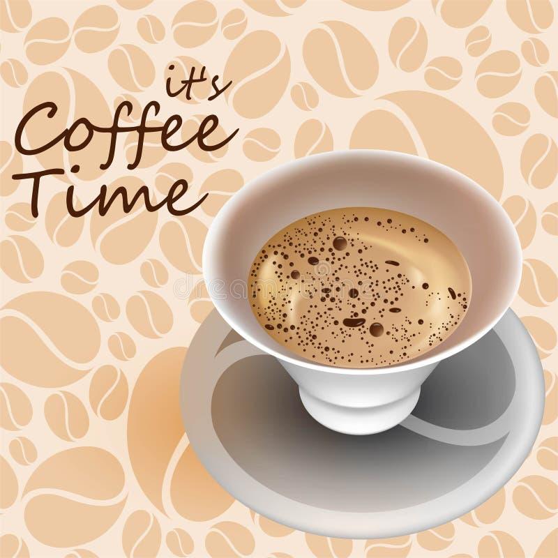Download Tempo del caffè immagine stock. Immagine di tempo, cappuccino - 55357521