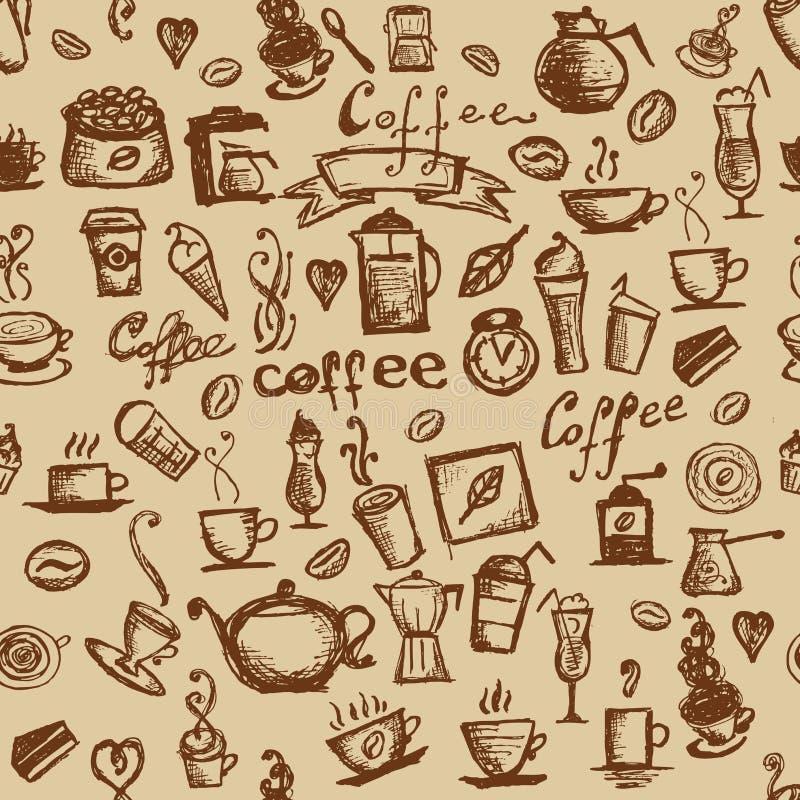 Tempo del caffè, priorità bassa senza giunte per il vostro disegno illustrazione vettoriale