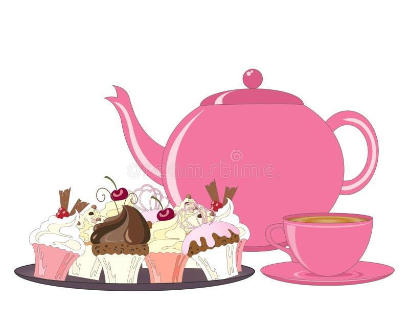 Tempo del dessert illustrazione di stock