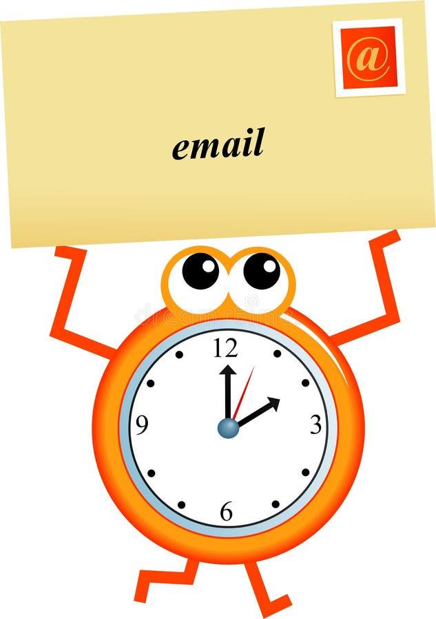 Tempo del email illustrazione di stock