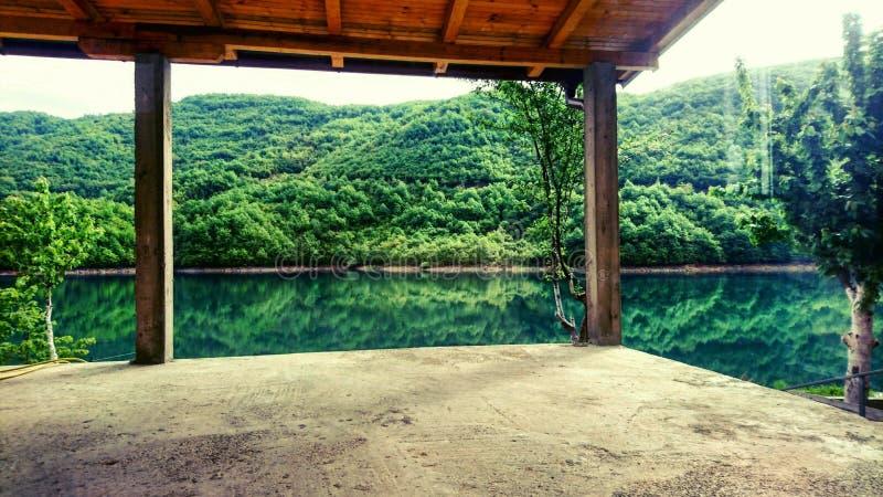 Tempo del lago fotografie stock