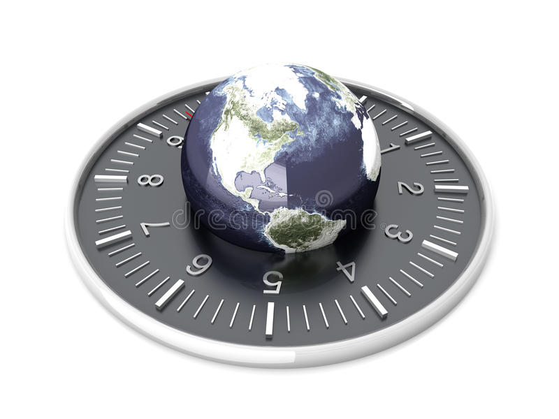 Tempo del mondo royalty illustrazione gratis