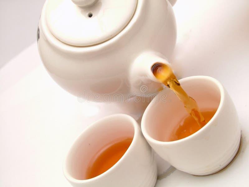 Download Tempo del tè fotografia stock. Immagine di obliquità, calma - 220580