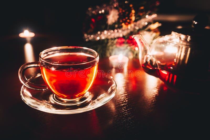 Tempo del tè di Natale immagini stock