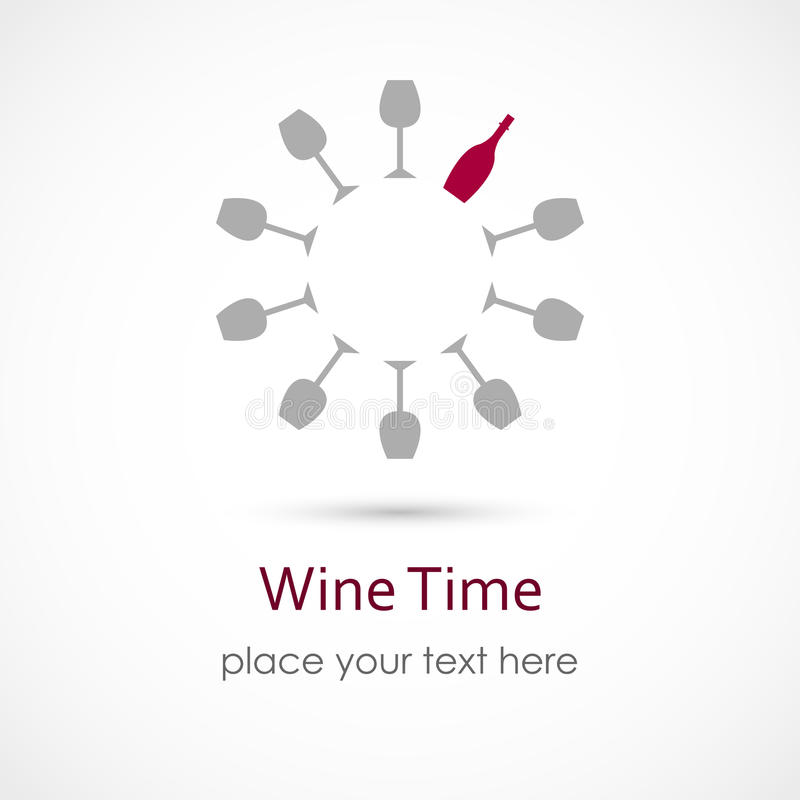 Tempo del vino illustrazione di stock