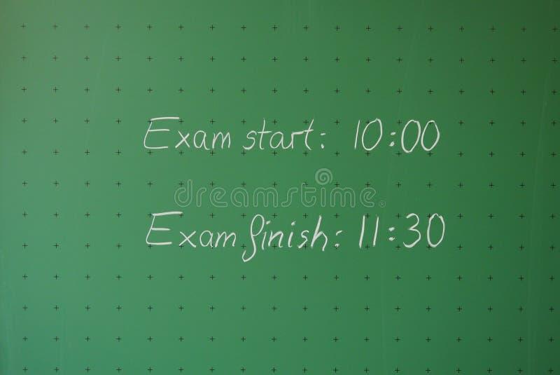 Tempo dell'esame fotografia stock