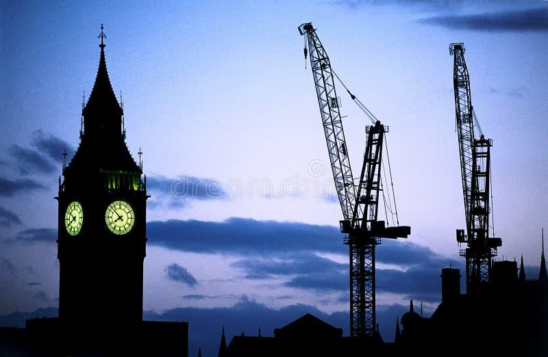 Tempo della costruzione fotografie stock libere da diritti