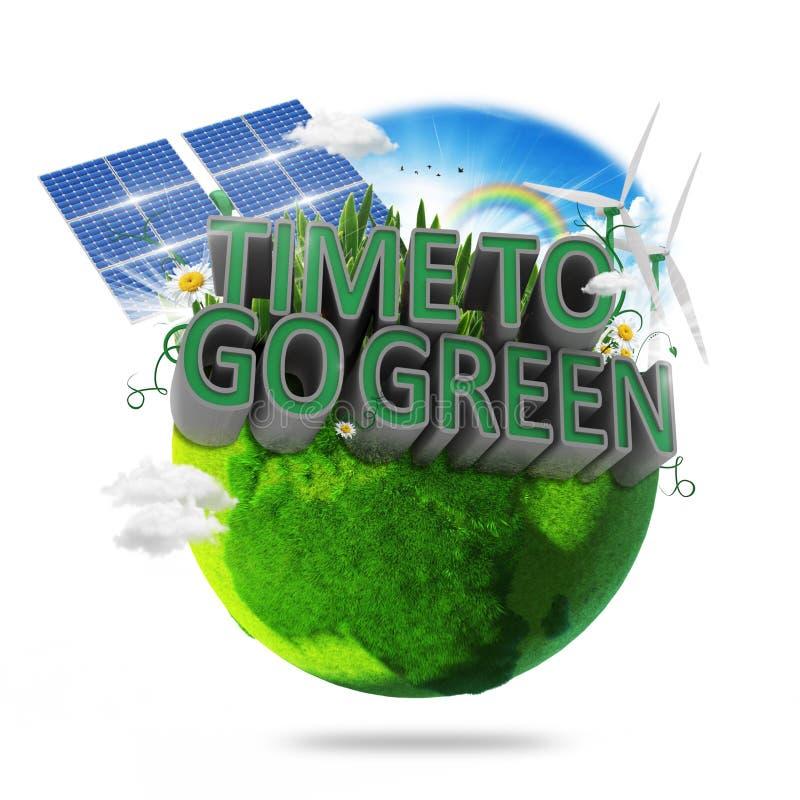 Download Tempo di andare verde immagine stock. Immagine di ricicli - 55350979
