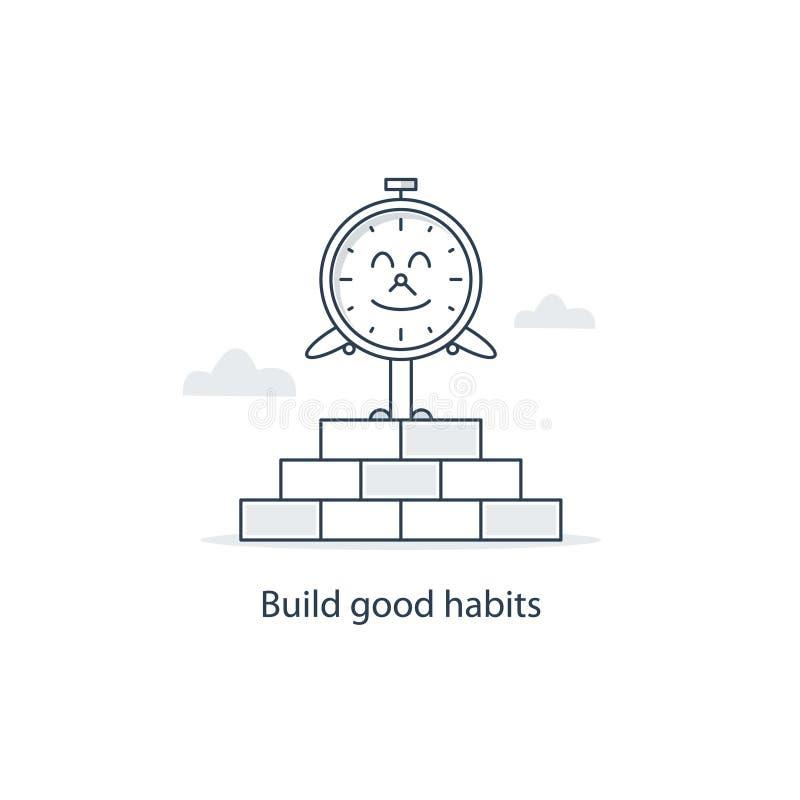 Tempo di cambiare e sviluppare le buone abitudini illustrazione di stock