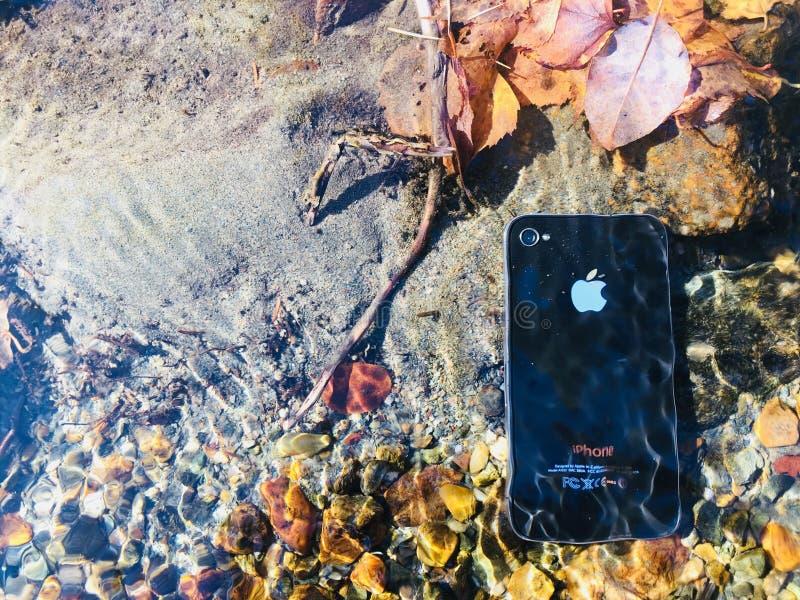 Tempo di cambiare IPhone fotografia stock libera da diritti
