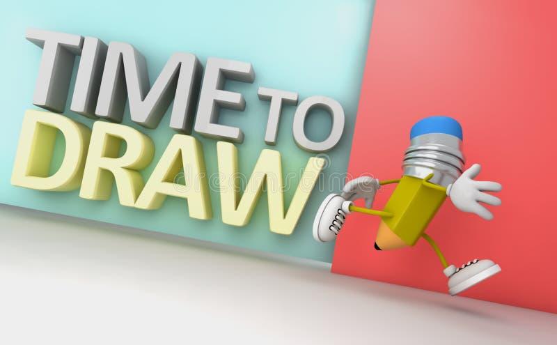 Download Tempo di disegnare illustrazione di stock. Illustrazione di tempo - 55351123