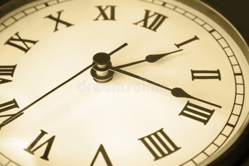 Tempo di fronte dell'orologio immagine stock