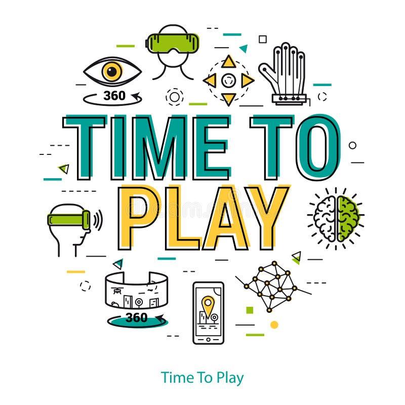 Tempo di giocare - linea concetto illustrazione vettoriale