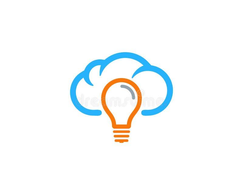 Tempo di idea ed icona creativi Logo Design Element di stagione illustrazione di stock