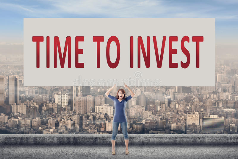 Tempo di investire immagine stock libera da diritti
