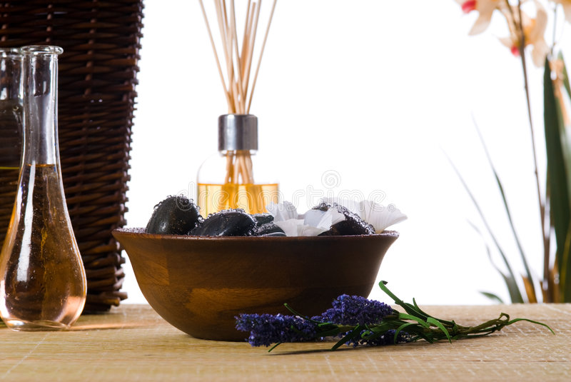 Tempo di massaggio fotografie stock