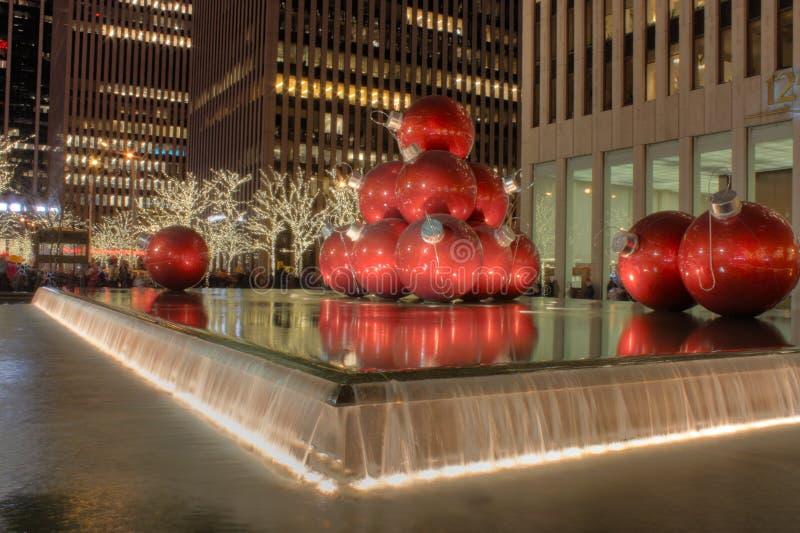 Tempo di natale a New York fotografia stock libera da diritti