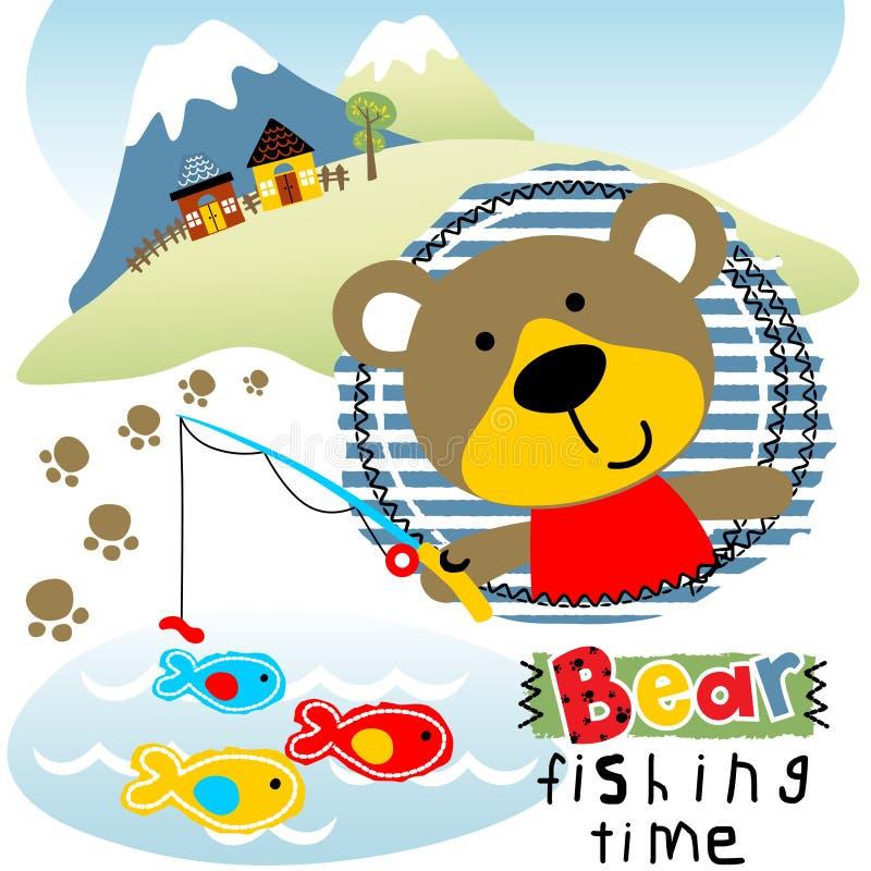 Tempo di pesca del ` s dell'orso illustrazione vettoriale