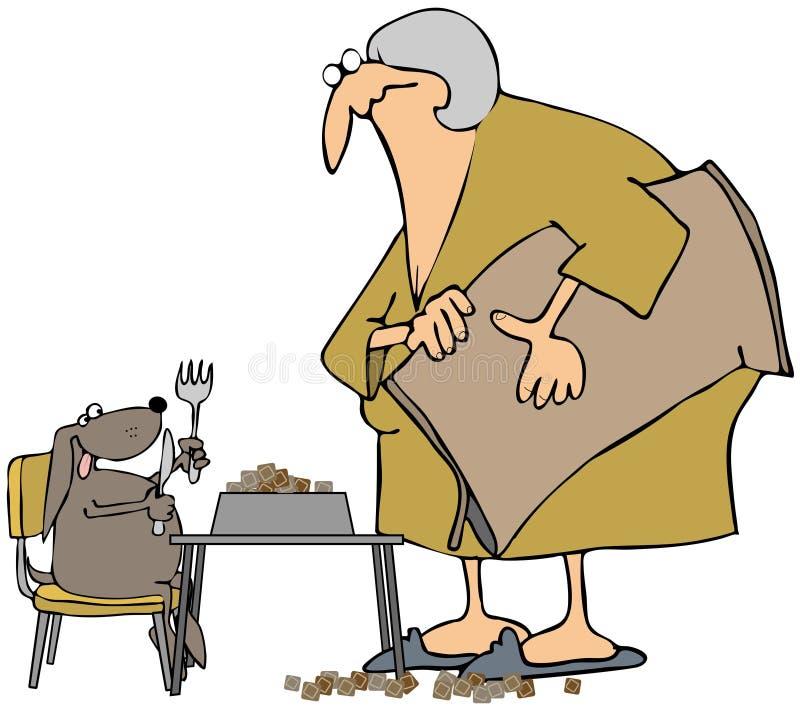 Tempo di pranzo dei cani illustrazione vettoriale