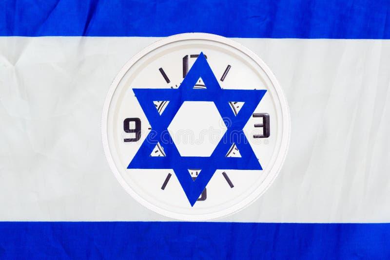 Tempo di salvataggio Daylight di Israele avviato o terminato Elezioni in Israele L'ora del voto democratico fotografia stock