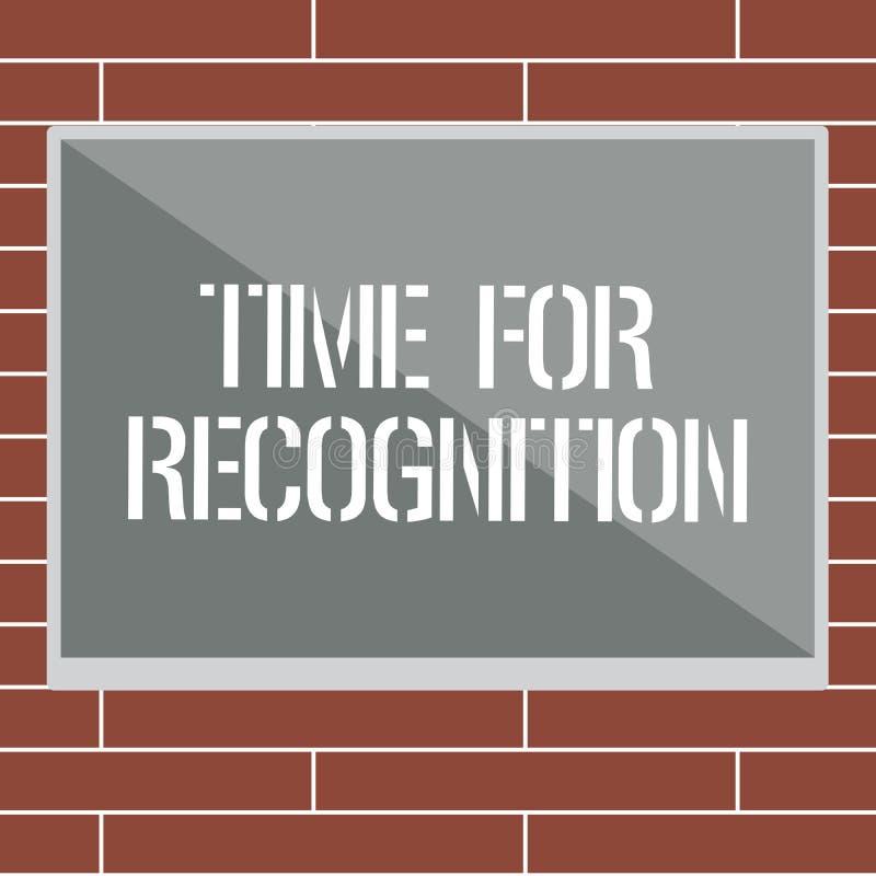 Tempo di scrittura del testo della scrittura per riconoscimento Intervallo di riconoscimento di significato di concetto fra lo st royalty illustrazione gratis