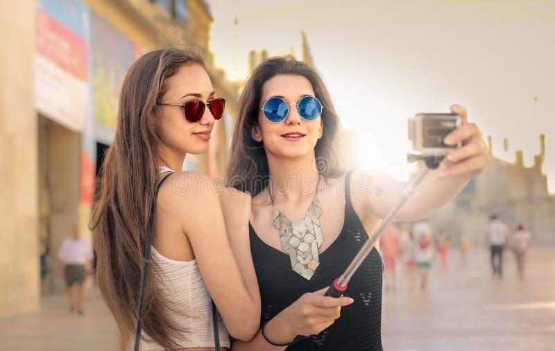 Tempo di Selfie fotografie stock libere da diritti