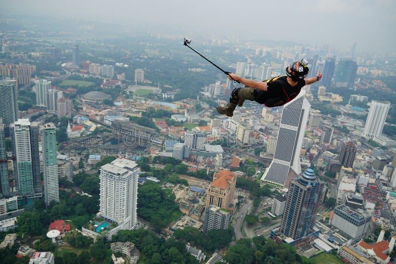 Tempo di Selfie sul cielo fotografia stock