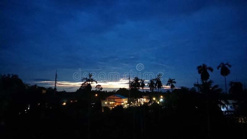 Tempo di sera fotografia stock