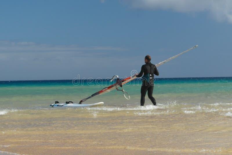 Tempo di Sotavento per praticare il surfing fotografia stock libera da diritti